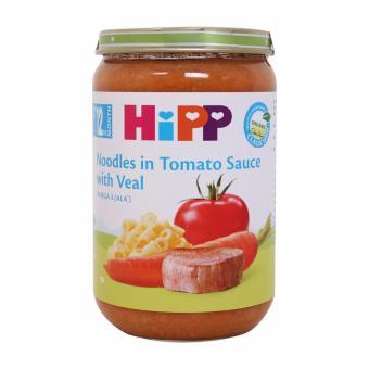 Thực phẩm dinh dưỡng thịt bê, mì sợi, cà chua HiPP 220g - Hàng chính hãng