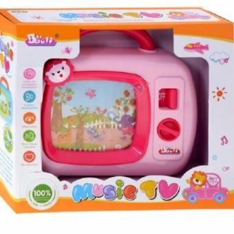 Đồ chơi Tivi 3D cho bé phát triển (Hồng)