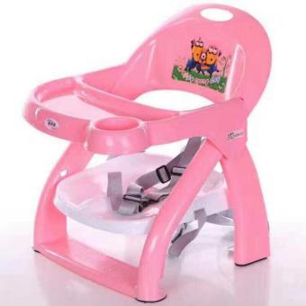 Ghế ngồi ăn dặm cho bé có thể gấp gọn (Màu hồng)
