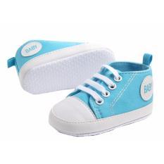 Giày tập đi bé trai Đế Vải Topstar BABY-13 cho bé bàn chân chiều dài 11.5cm (xanh dương)
