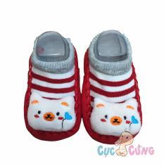 Giày tập đi cho trẻ sơ sinh - hình mèo