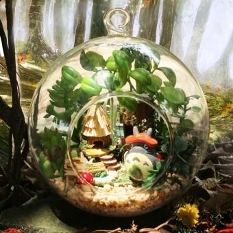 Glass Handmade DIY Cottage ball elves tribal creative micro landscape plant model Valentine