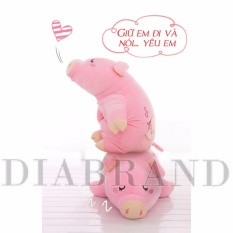 Gối ôm heo bông màu hồng dài 55cm-OHN55 (nhà bán hàng Diabrand)