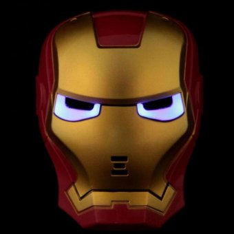 Halloween Costumes Cool Iron Man Mask with LED Eyes - intl
