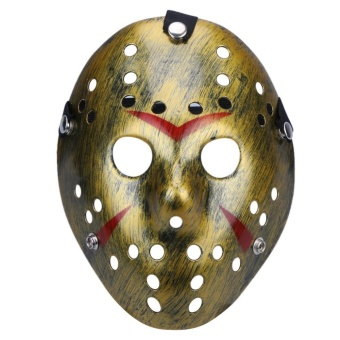 Halloween Masks Dance Gathering Jason Mask Horror Funny Mask(Gold) - intl
