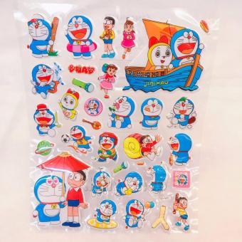 Vì sao mua Hình dán – Happy Sticker Doremon và Doremi đi tàu , Nobita , Xuka nổi ngộ nghĩnh , đáng yêu – 16STKDOYH0234