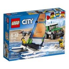 Hộp Lego City 60149 Xe địa hình 4x4 và thuyền buồm hai thân 198 chi tiết
