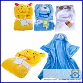 Khăn choàng tắm đầu thú cho trẻ dưới 9 tuổi - 3