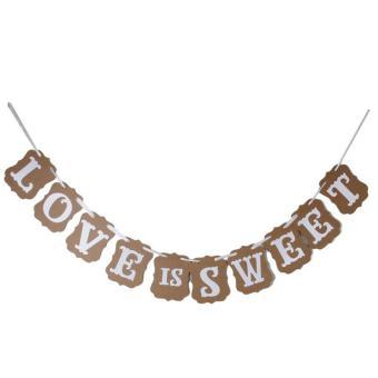 LOVE IS SWEET Garland Banner Banner Decoration for Wedding Ceremony- Intl