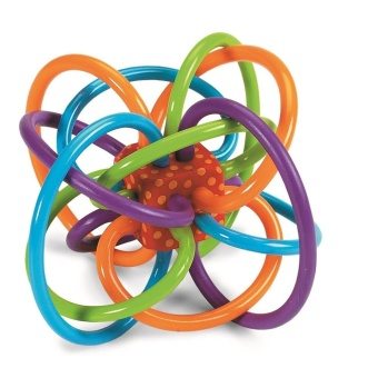 Manhattan Toy Winkel Rattle and Sensory Teether Activity Toy - intl