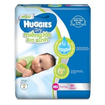 Miếng lót sơ sinh Huggies Newborn 2 NB2-60 (4- 7kg) 60 miếng