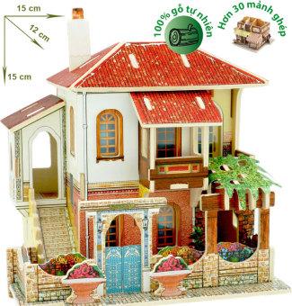 làm thế nào với Mô hình nhà gỗ DIY – 3D Jigsaw Puzzle Wooden Toys HPMB6140