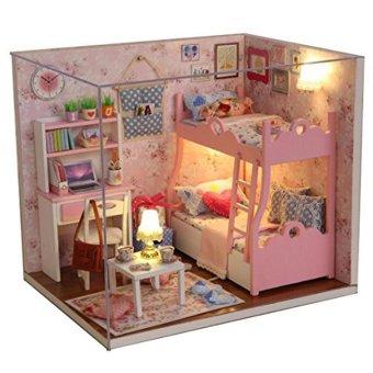 Mô hình nhà gỗ DIY- Căn phòng bé gái  Free