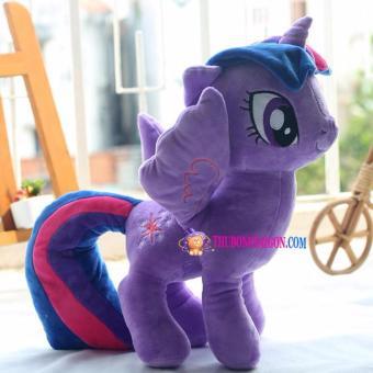 Ngựa Pony tím nhồi bông size nhỏ 35cm