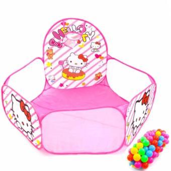Nhà banh Hello Kitty kèm 100 bóng siêu xinh cho bé