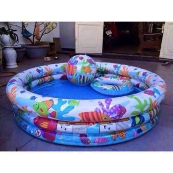 Phao bể bơi 3 tầng 59469 ( Xanh )