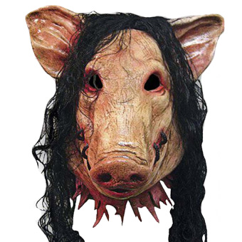 Pig Scary Latex Mask Halloween Party Creepy Cosplay CarnivalMasquerade Costume - 2