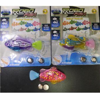 Robot cá tự động bơi khi gặp nước tặng kèm 2 viên pin- giao màu ngẫu nhiên - 2