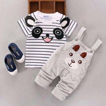 Set bộ áo yếm gấu dễ thương cho bé trai bé gái