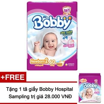 Tã giấy Bobby Fresh NB 2-60 + Tặng 1 tã New born 1 2 miếng