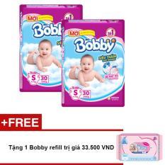 Tã Giấy Bobby Fresh Siêu Mỏng S30 + Tặng 1 Bobby refill trị giá 33.500 VND