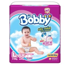 Tã giấy Bobby siêu mỏng L68.