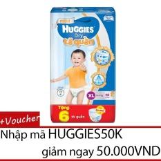 Tã quần HUGGIES DRY PANTS BIG JUMBO XL48 (11 - 16kg) - Gói 48 miếng (Tặng 6 miếng tã quần cao cấp)
