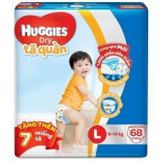 Tã quần Huggies Dry Pants L68 (8 - 13kg) + Tặng 7 miếng /gói