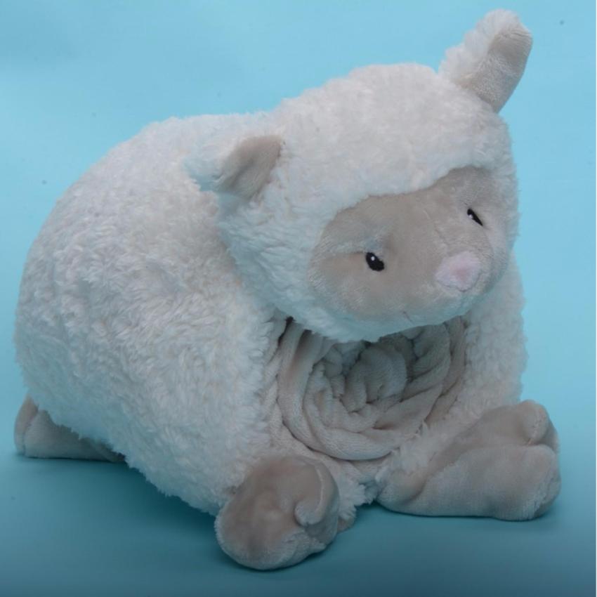 Hình ảnh Thú nhồi bông thương hiệu Little Footprints - Mền lông cừu+ gối cừu