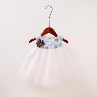 Váy đầm công chúa in họa tiết hoa bồ công anh cho bé gái xinh đẹp giá rẻ - 3