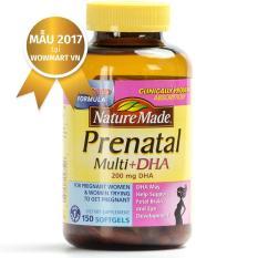 Giá Vitamin và DHA cho bà bầu Nature Made® Prenatal Multi DHA 200mg 150 viên MỸ