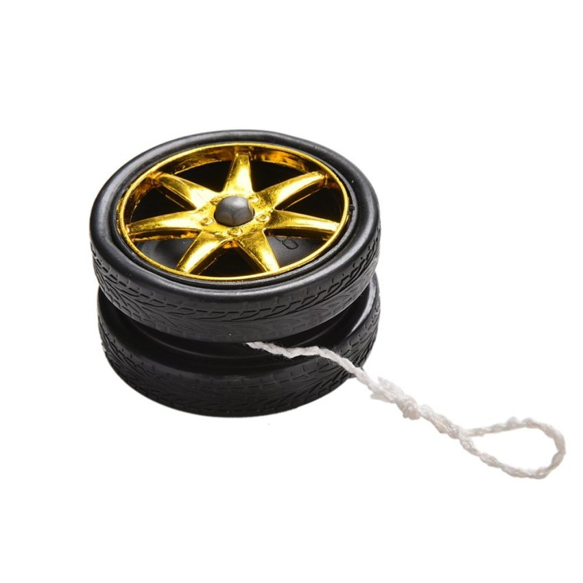 Hình ảnh Wheel Yoyo Ball Electroplating YoYo Ball Bearing String Kids ToyGift - intl