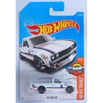 Xe ô tô mô hình tỉ lệ 1:64 Hot Wheels 2017 Datsun 620 Hw Hot Trucks181/365 ( Màu Trắng )