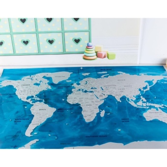 Yika Deluxe Travel Edition Scratch Off World Map - Ocean BlueWorldmap - intl