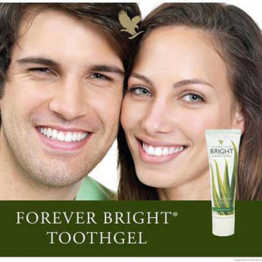 2 Tuýp Kem Đánh Răng Lô Hội Forever Bright Toothgel Thiên Nhiên - Hàng Chính Hãng