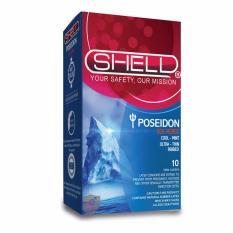 Bao cao su gân sọc & kéo dài thời gian quan hệ từ tinh chất bạc hà mát lạnh Shell Poseidon(Sea Horse) - Hộp 10 chiếc