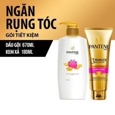 So Sánh Giá Bộ 1 dầu gội Pantene ngăn rụng tóc 670g và 1 kem xả Pantene ngăn rụng tóc 180ml