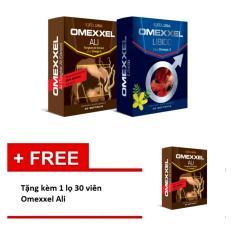 So Sánh Giá Bộ 1 hộp 30 viên uống tăng cường sinh lý và sức khỏe nam giới toàn diện Omexxel Ali + 1 hộp 30 viên Omexxel + Tặng kèm 1 lọ 30 viên Omexxel Ali