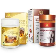 Bộ 1 hộp Viên uống tăng cường sinh lực nam giới Alltimes Care Kangaroo Essence 6000mg +1 hộp Viên uống sữa ong chúa Alltimes Care 60 Viên