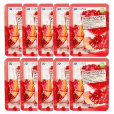 Bộ 10 gói mặt nạ chiết xuất lựu 3D Foodaholic Pomegranate Natural Essence Mask 23ml x10