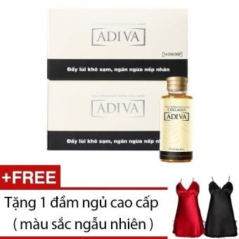 Bộ 2 hộp Collagen ADIVA dạng nước 14 lọ x 30ml + Tặng đầm ngủ