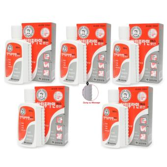Bộ 5 Hộp Dầu nóng xoa bóp/massage Yuhan Antiphlamine Lotion 100ml/hộp
