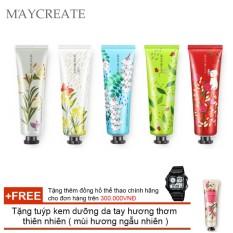 Nơi Bán Bộ 5 tuýp kem dưỡng da tay MayCreate – 30g ( 05 tuýp ngẫu nhiên ) + Tặng mặt nạ siêu cấp ẩm Maycreate