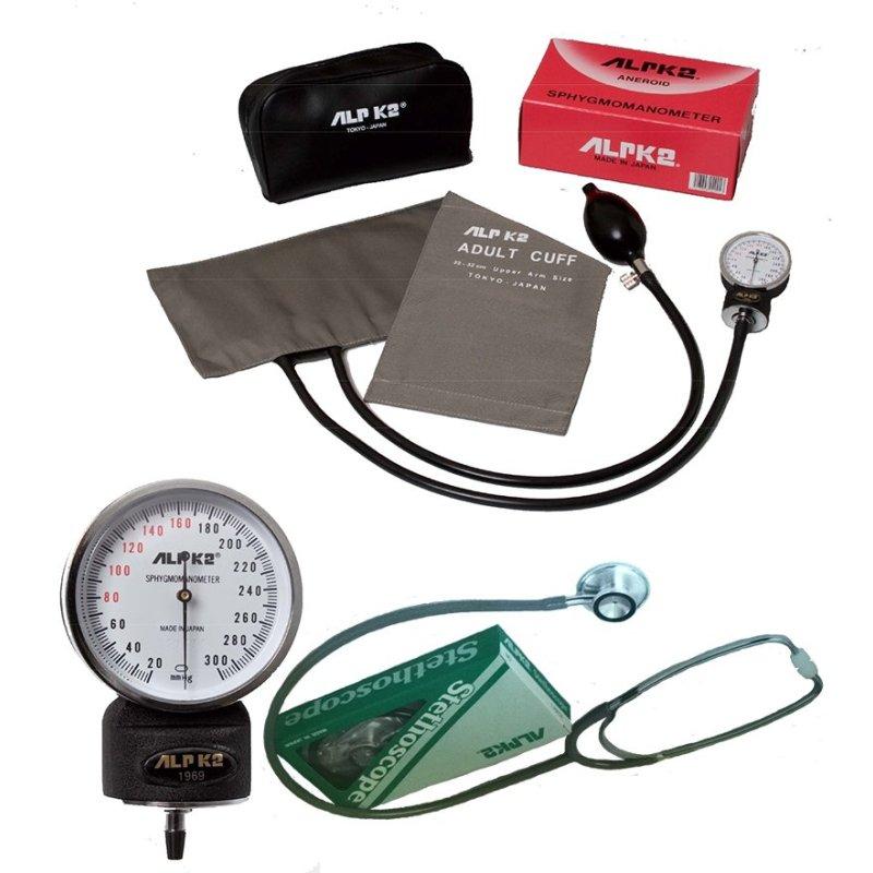 Nơi bán Bộ máy đo huyết áp đồng hồ 500V + Ống nghe tim phối FT-801 ALPK2 (Trắng)