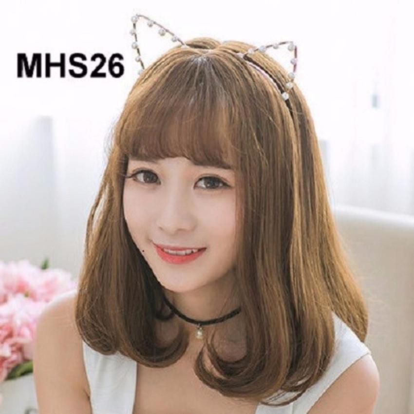 Bộ tóc giả cúp đuôi mái thưa TG26 Hàn Quốc