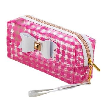 BPFAIR Bowknot Waterproof Cosmetic Bag Storage Bag - intl