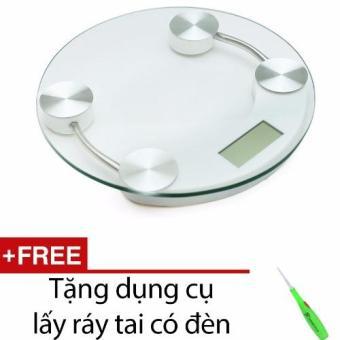 Cân điện tử mặt kính cường lực đường kính 26cm + Tặng dụng cụ lấy ráy tai có đèn - 8822535 , VE835HBAA1SIPTVNAMZ-3009512 , 224_VE835HBAA1SIPTVNAMZ-3009512 , 130000 , Can-dien-tu-mat-kinh-cuong-luc-duong-kinh-26cm-Tang-dung-cu-lay-ray-tai-co-den-224_VE835HBAA1SIPTVNAMZ-3009512 , lazada.vn , Cân điện tử mặt kính cường lực đường kính