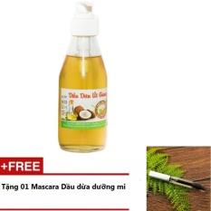 Dầu Dừa Nguyên Chất Út Giang 200ml + Tặng 1 Mascara Dầu Dừa Dưỡng Mi 5ml