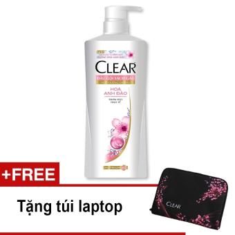 Dầu gội Clear hương hoa anh đào 650g + Tặng túi laptop