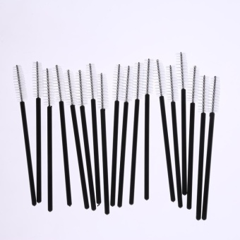 Hang-Qiao 100Pcs One-Off Disposable Eyelash Brush Makeup Tool (White) - intl